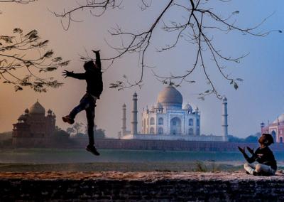 Taj-Mahal-at-Sunset